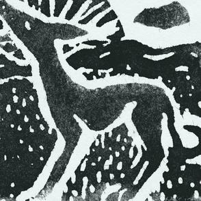 Sighthound Blockprint B&W