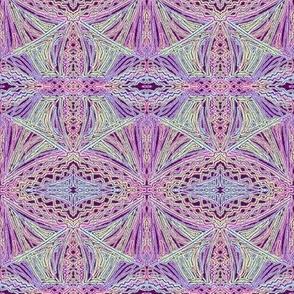 Lacy Diamond Lattice on Amethyst