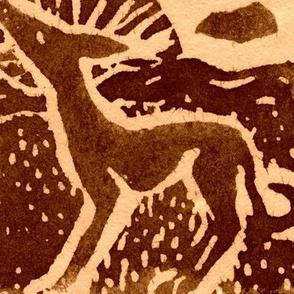 Sighthound Blockprint sepia