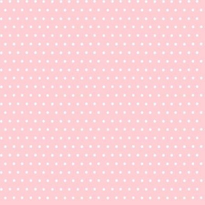 Ducks white dots on pale pink