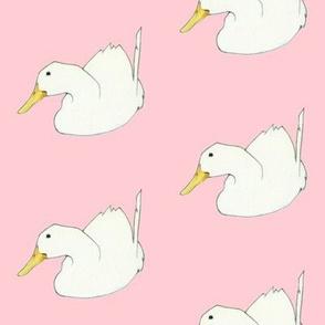 Duck Dip on pale pink
