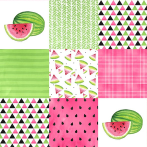 One in a Melon - Wholecloth Cheater Quilt