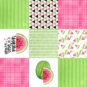 One in a melon - Wholecloth Cheater Quilt - Rotated