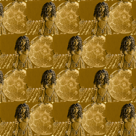 """Moon Goddess _ the tide-2"""" fabric by cloudsong_art on Spoonflower - custom fabric"""