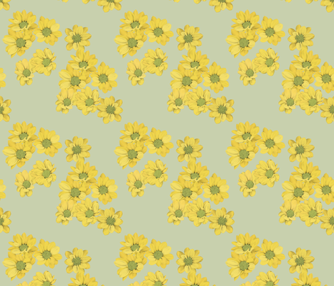 Yellow daisies fabric by daniwilliams on Spoonflower - custom fabric