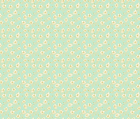 Mint Wildflower Mixer fabric by gwendegroff on Spoonflower - custom fabric