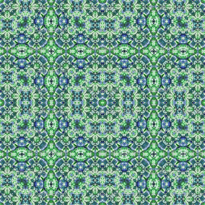 Blue Green Paisley
