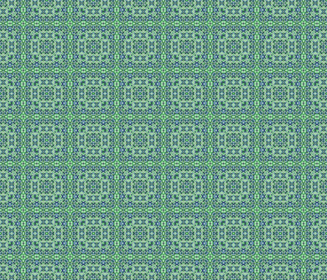 Blue Green Paisley fabric by just_meewowy_design on Spoonflower - custom fabric