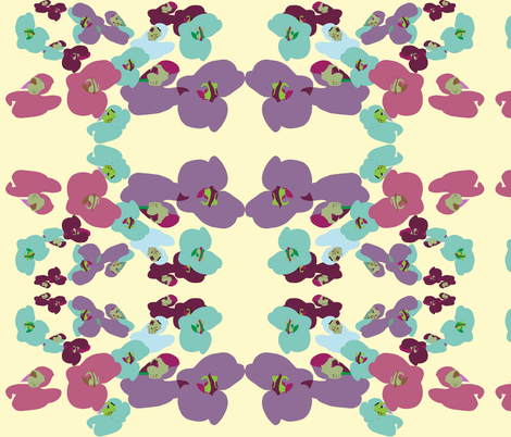 orchidrepeat2 fabric by snap-dragon on Spoonflower - custom fabric