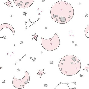 Sleepy Moons - Baby Pink // by Sweet Melody Designs