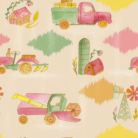 Harvesting the Field fabric by anat_om on Spoonflower - custom fabric