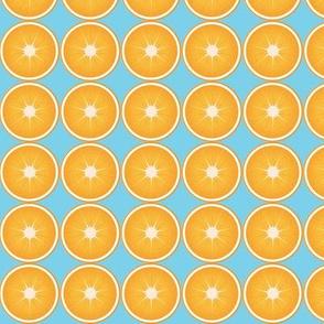 Orange Slice Blue