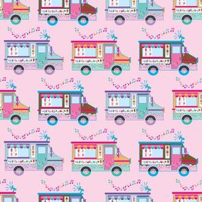 aloha ice cream truck on pink