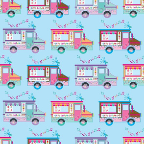 aloha ice cream truck on blue