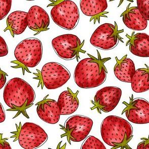 Watercolor Strawberries