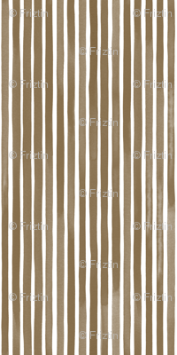 Vertical Watercolor Mini Stripes M+M Nutmeg by Friztin