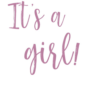 It's a girl! Gender Reveal
