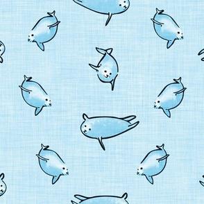 Harbor Seals - Blue