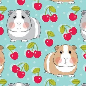 guinea-pigs-and-cherries-on-blue