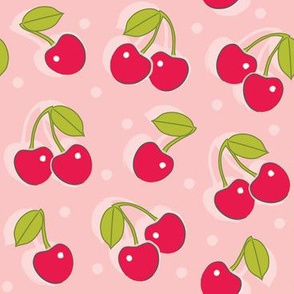 cherries-on-pink