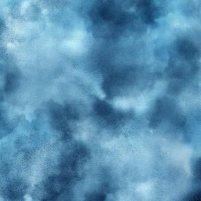 Mottled Blue Watercolor Sky
