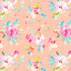 Gemma Pink Dotted Florals