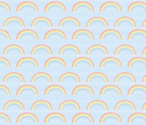 Mosaic rainbow fabric by stitchesbycaroline on Spoonflower - custom fabric