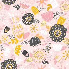 Folksy Spring Flowers