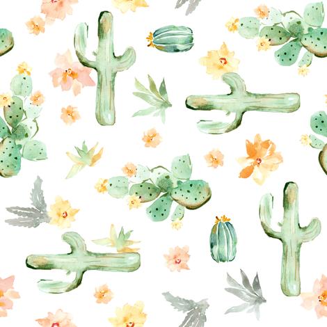 Arizona Cactus Sideways fabric by angiemakes on Spoonflower - custom fabric