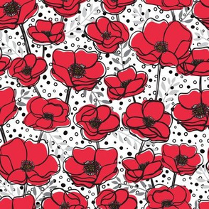 Red + Black Poppies