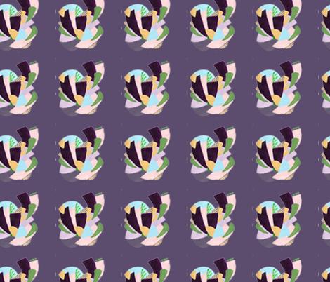 HeartSpiralPatternPurple fabric by laurafedorowicz on Spoonflower - custom fabric