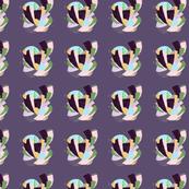 HeartSpiralPatternPurple