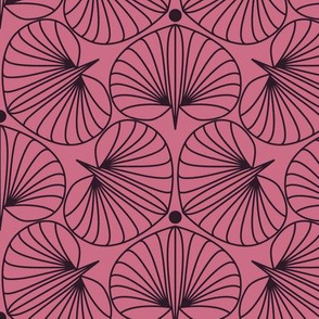 Stylized Flower Pink and Plum