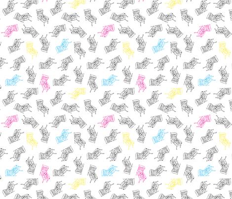 Pinball Toss Print - CMYK fabric by funnyfacecreative on Spoonflower - custom fabric