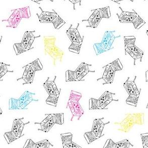 Pinball Toss Print - CMYK