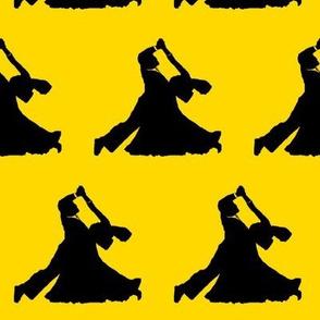 Ballroom Dancers on Gold // Large