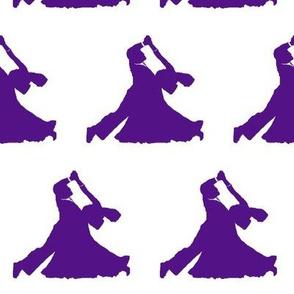 Purple Ballroom Dancers// Large