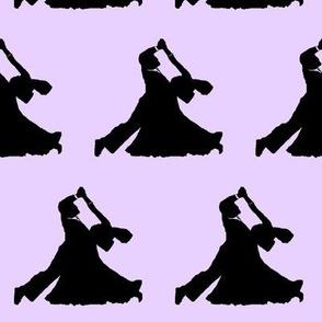 Ballroom Dancers on Lavender // Large