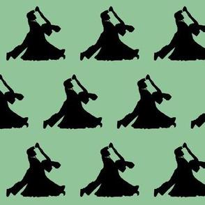 Ballroom Dancers on Moss Green // Small