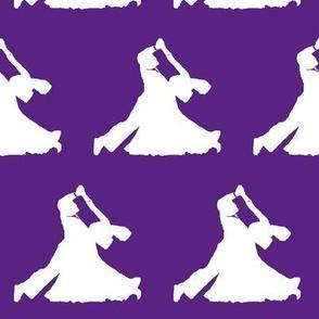 Ballroom Dancers on Purple // Large