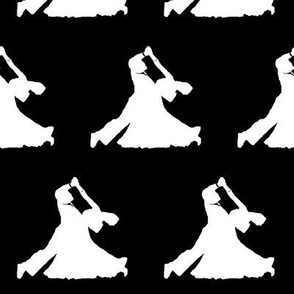 Ballroom Dancers on Black // Large