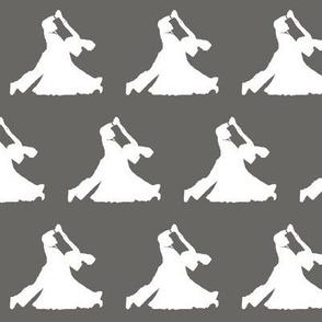 Ballroom Dancers on Slate Grey // Small