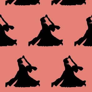 Ballroom Dancers on Muted Apricot // Large