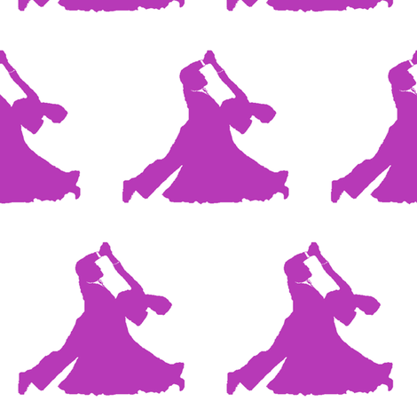 Pink Ballroom Dancers // Large fabric by thinlinetextiles on Spoonflower - custom fabric