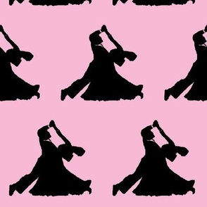 Ballroom Dancers on Light Pink // Large