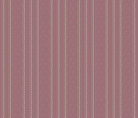 Little stripey things with stripes -rosewood fabric by martjepieters on Spoonflower - custom fabric