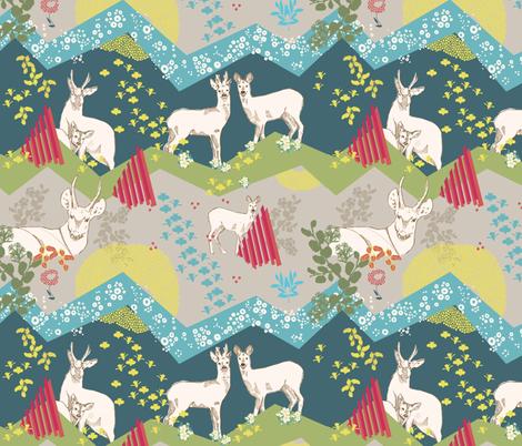 Patagonia - Huemul Day light fabric by the_window_way on Spoonflower - custom fabric