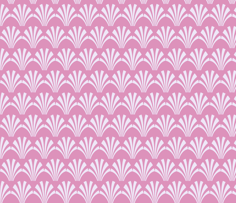 fans small repeat lt pink on pink fabric by lorloves_design on Spoonflower - custom fabric