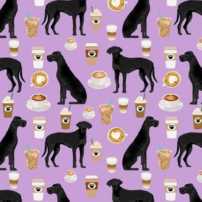 great dane black coffee dog breed fabric purple