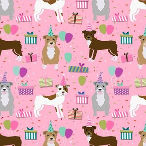 pitbull birthday mixed dog breed fabric